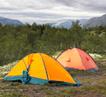 Лагерь туристов в Хибинах